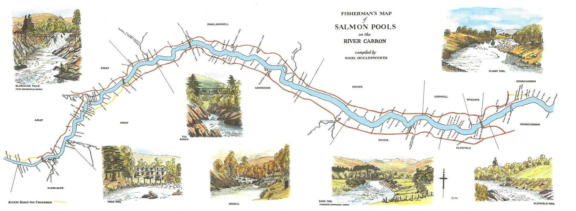 Map of River Carron
