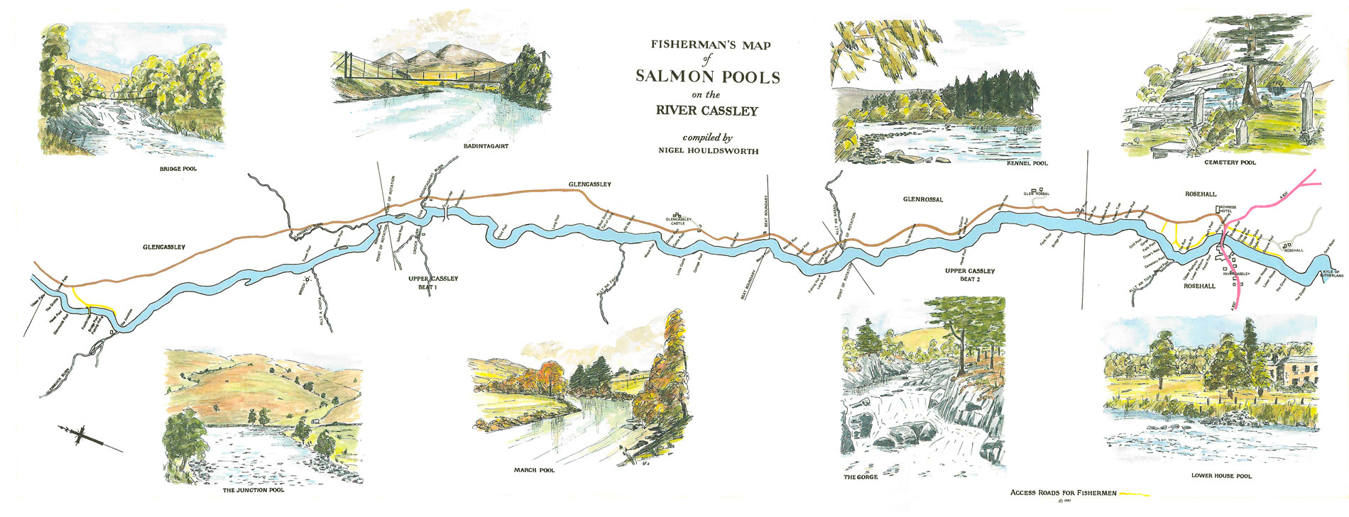 Map of River Cassley